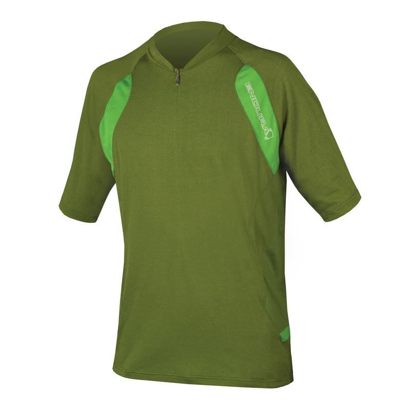 Endura Dres SINGLETRACK LITE krátký rukáv green