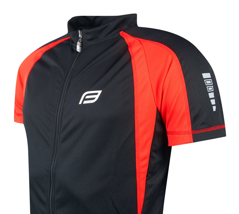 Force dres T10 krátký rukáv, černo-červený