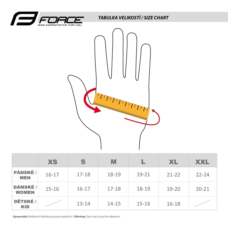 Force rukavice MTB TARGET, černé