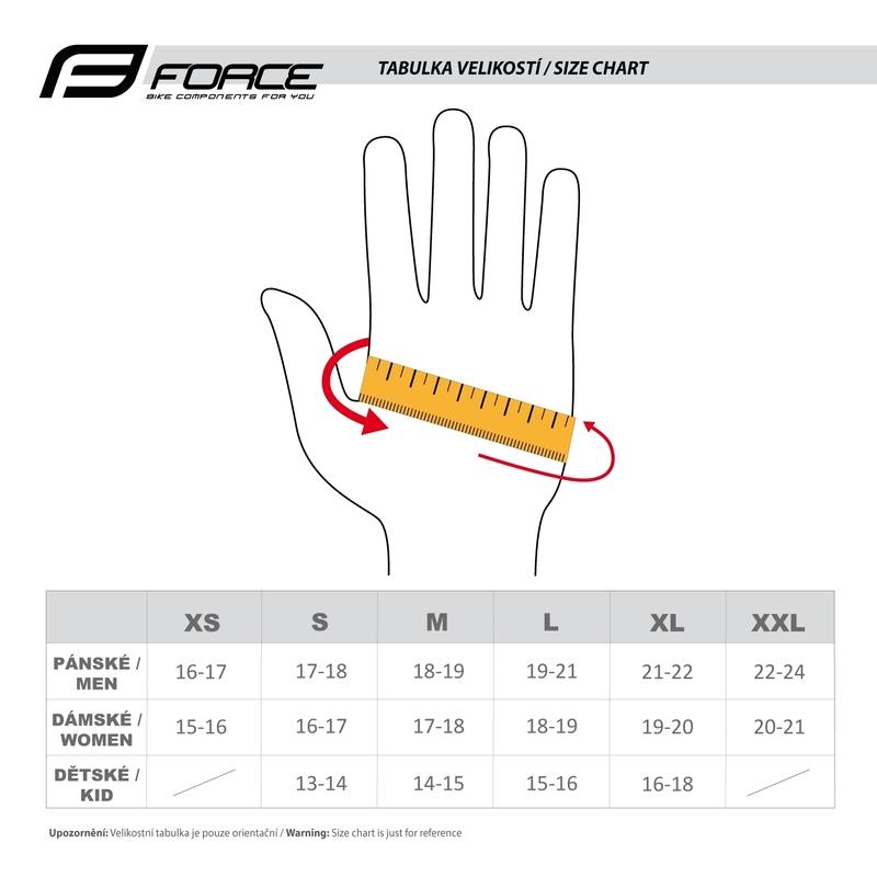 Force rukavice EXTRA, jaro-podzim, fluo