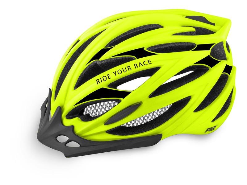 R2 helma ARROW neon žlutá/černá matná