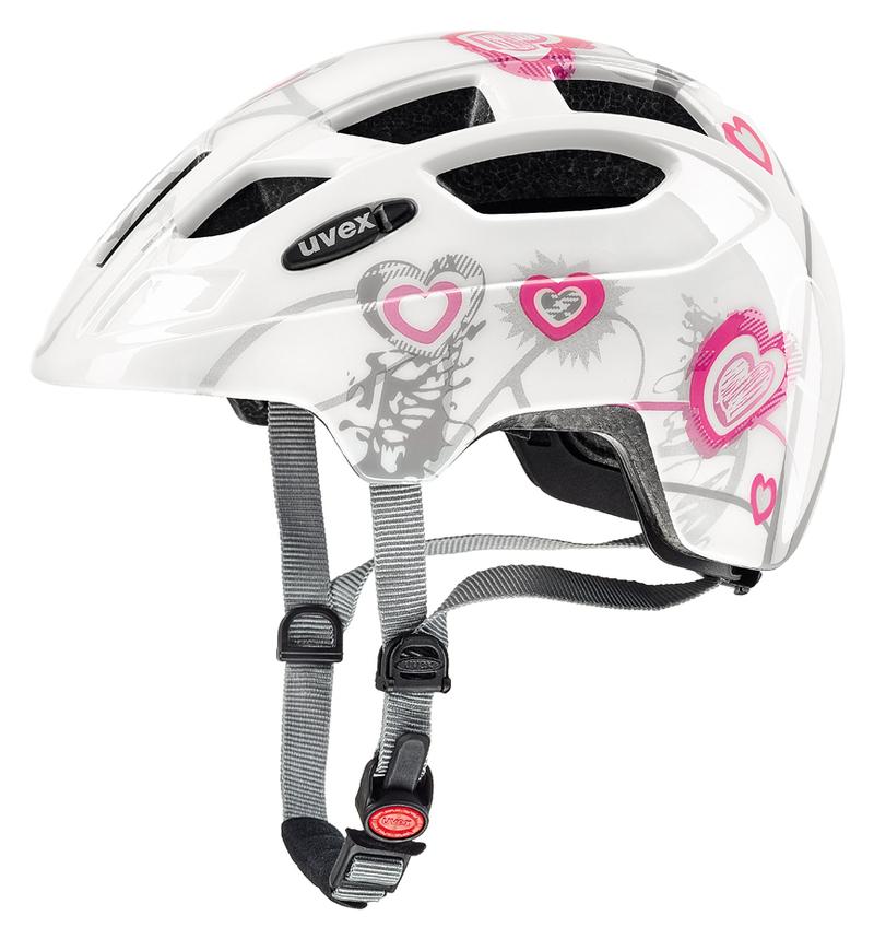 Uvex helma FINALE JUNIOR heart white pink