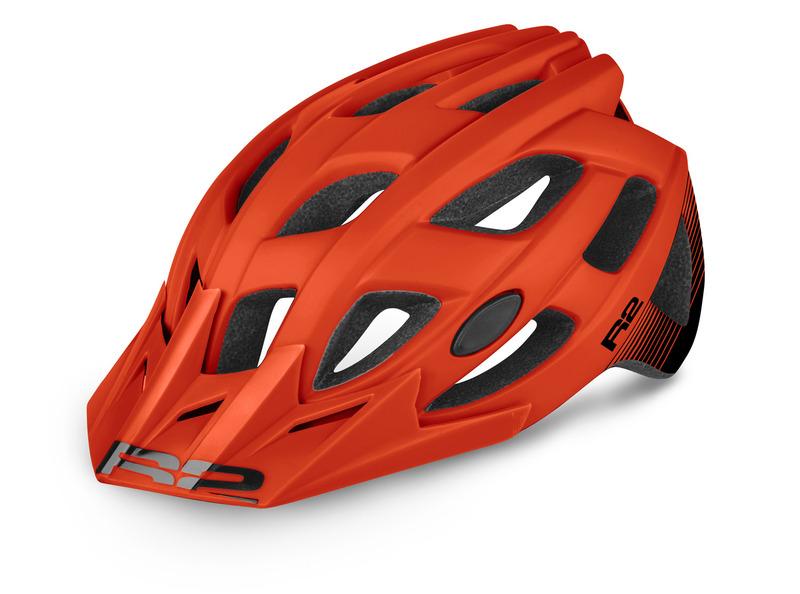 R2 helma ROCK červená/černá matná