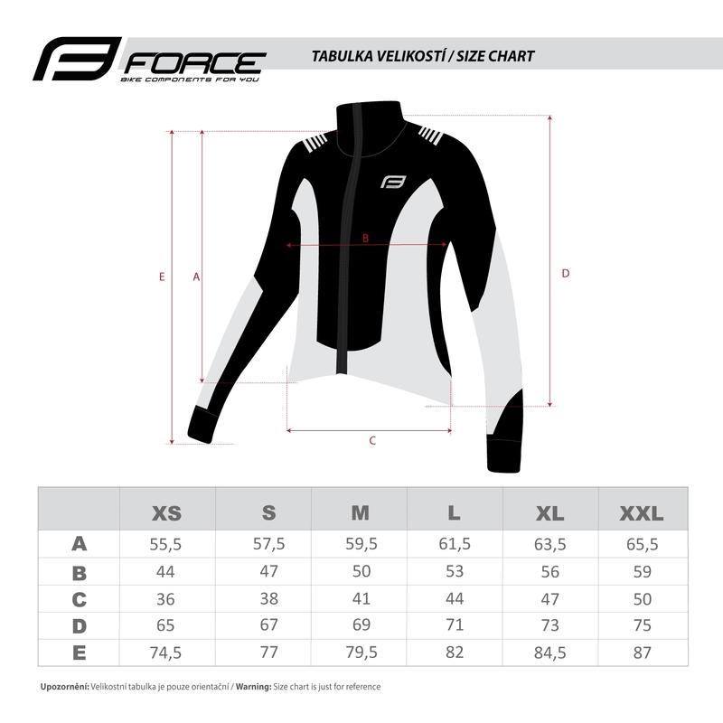 Force bunda dlouhý rukáv X68, černo-fluo