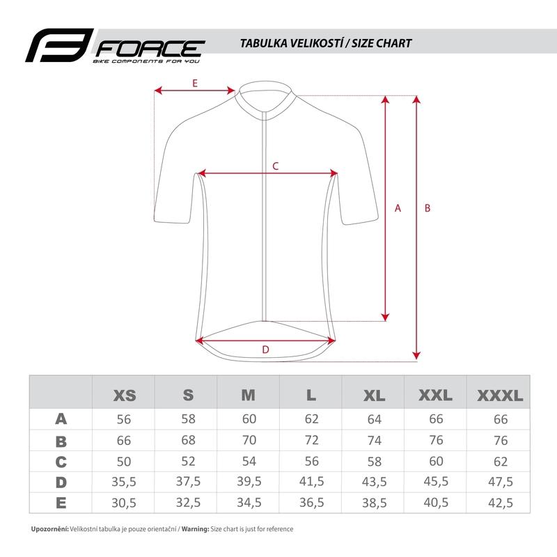 Force dres T12 krátký rukáv, černo-bílý