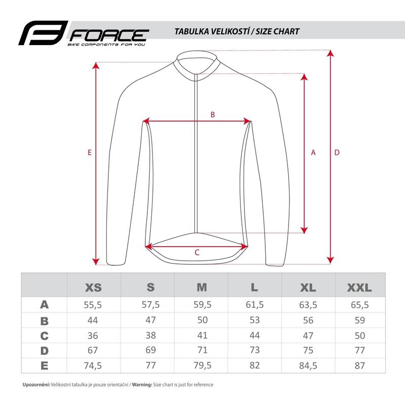 Force bunda dlouhý rukáv X68 PRO, černo-červená