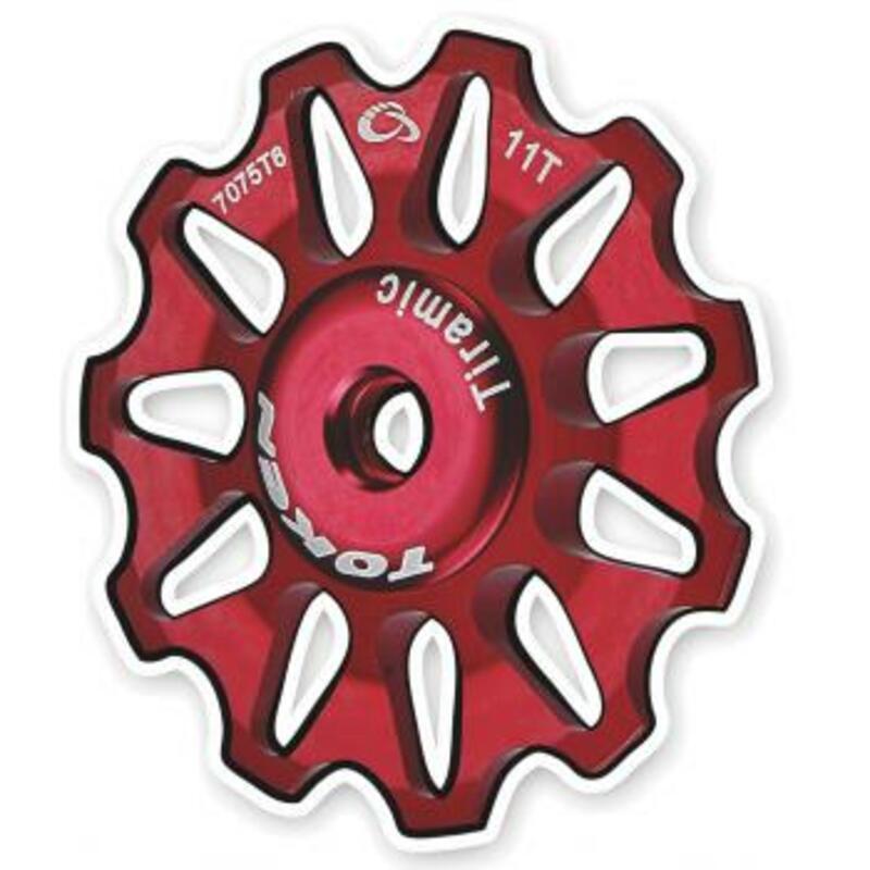 Token kladky přehazovačky TOKEN 11 zubů červené