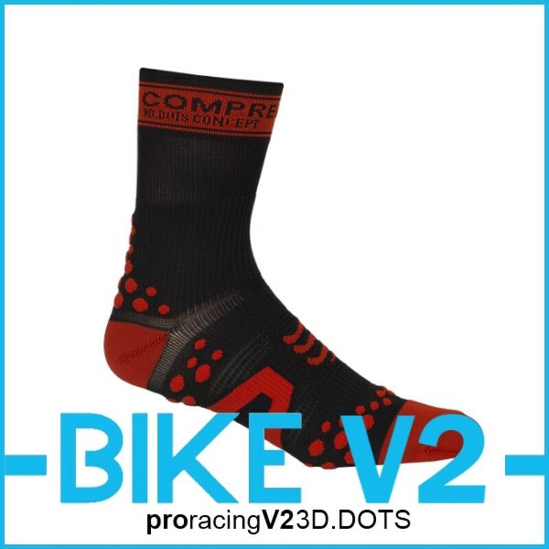 Compressport Kompresní ponožky Pro Racing BIKE V2 b/r