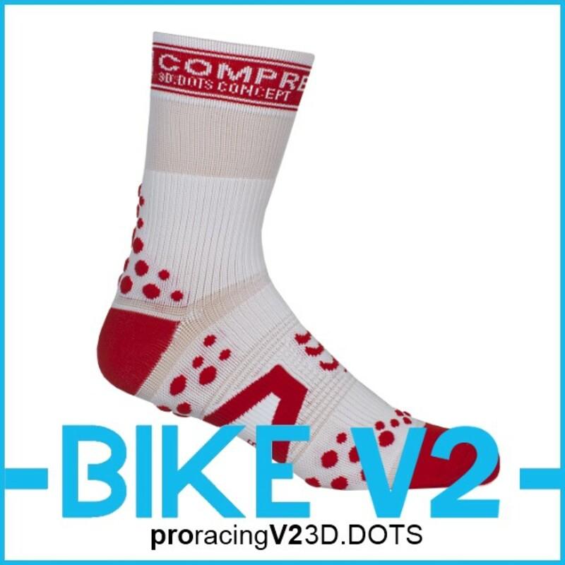 Compressport Kompresní ponožky Pro Racing BIKE V2 w/r