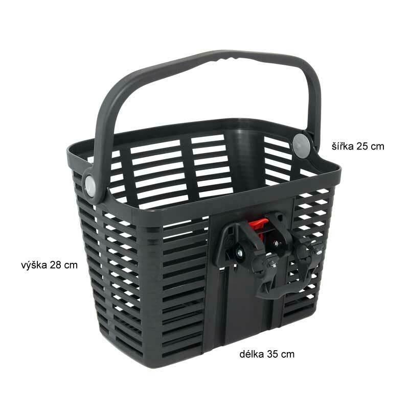 Belleli košík plast na řídítka, černý