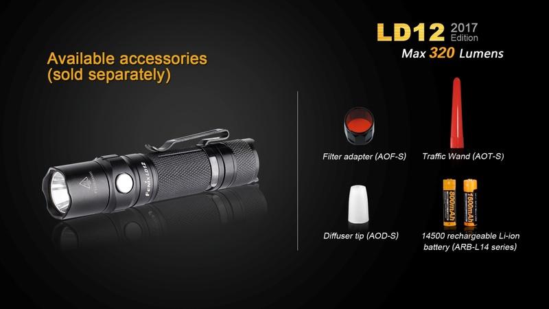 Fenix svítilna LD12 320 lumenů