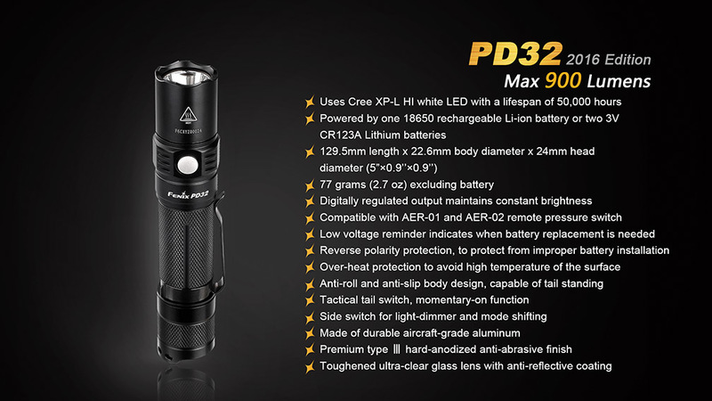 Fenix LED svítilna PD32 XP-L