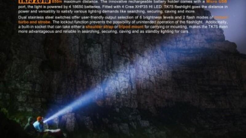 Fenix LED svítilna Fenix TK75 4xCree XHP35 HI