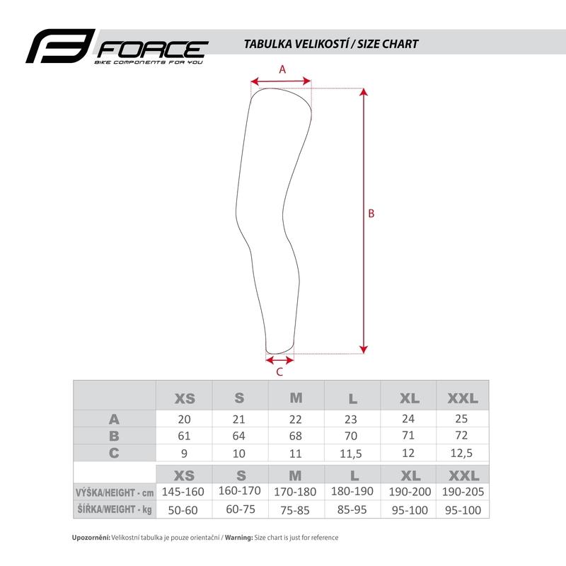 Force návleky na nohy TERM dlouhé, černé