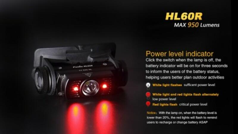 Fenix Nabíjecí čelovka HL60R