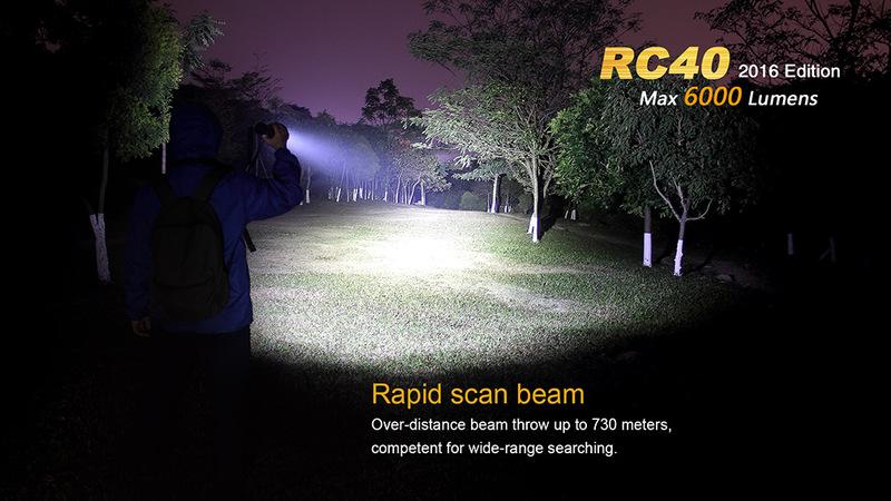 Fenix Nabíjecí svítilna Fenix RC40 6xCree XM-L2