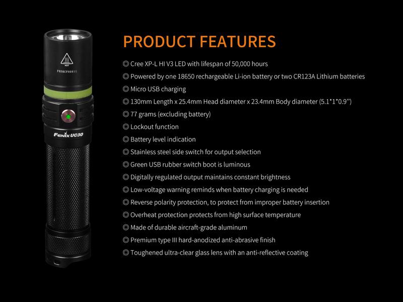 Fenix Nabíjecí svítilna Fenix UC30 XP-L