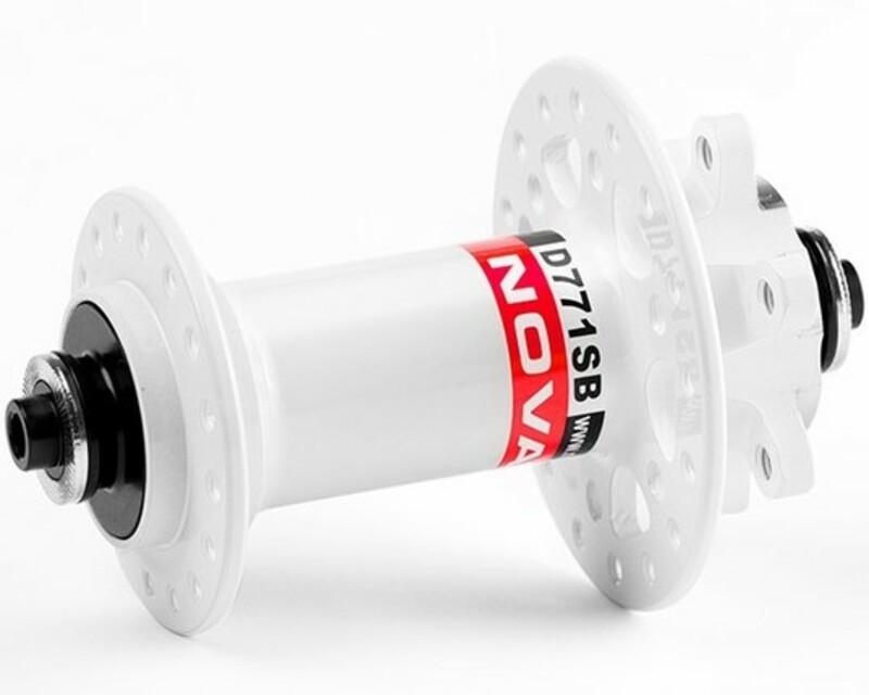 Novatec náboj D771SB + redukce 15 mm, přední 32 děrový, bílý