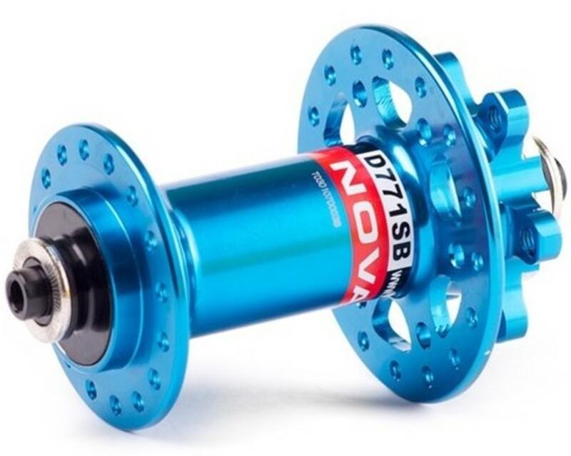 Novatec náboj D771SB + redukce 15 mm, přední 32 děrový, modrý