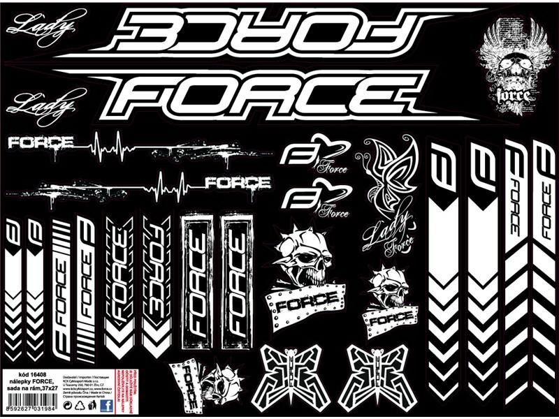 Force nálepky FORCE BMX na rám,37x27