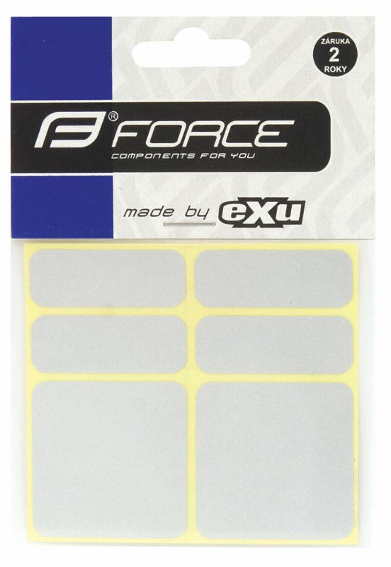 Force nálepky reflexní 6ks 3M stříbrné
