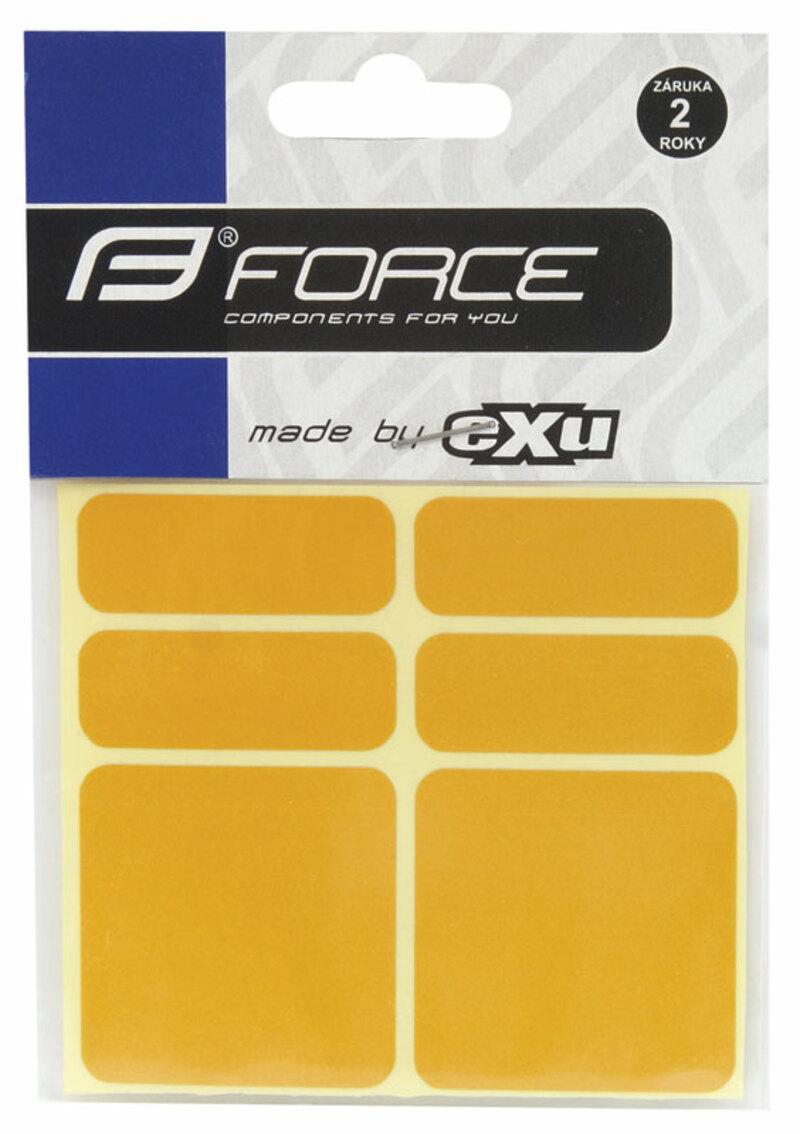 Force nálepky reflexní 6ks 3M žluté