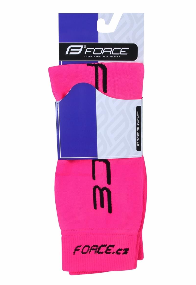 Force návleky na ruce pletené, růžové