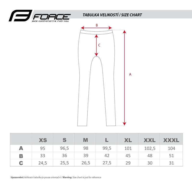 Force kalhoty Z68 do pasu bez vložky, černé