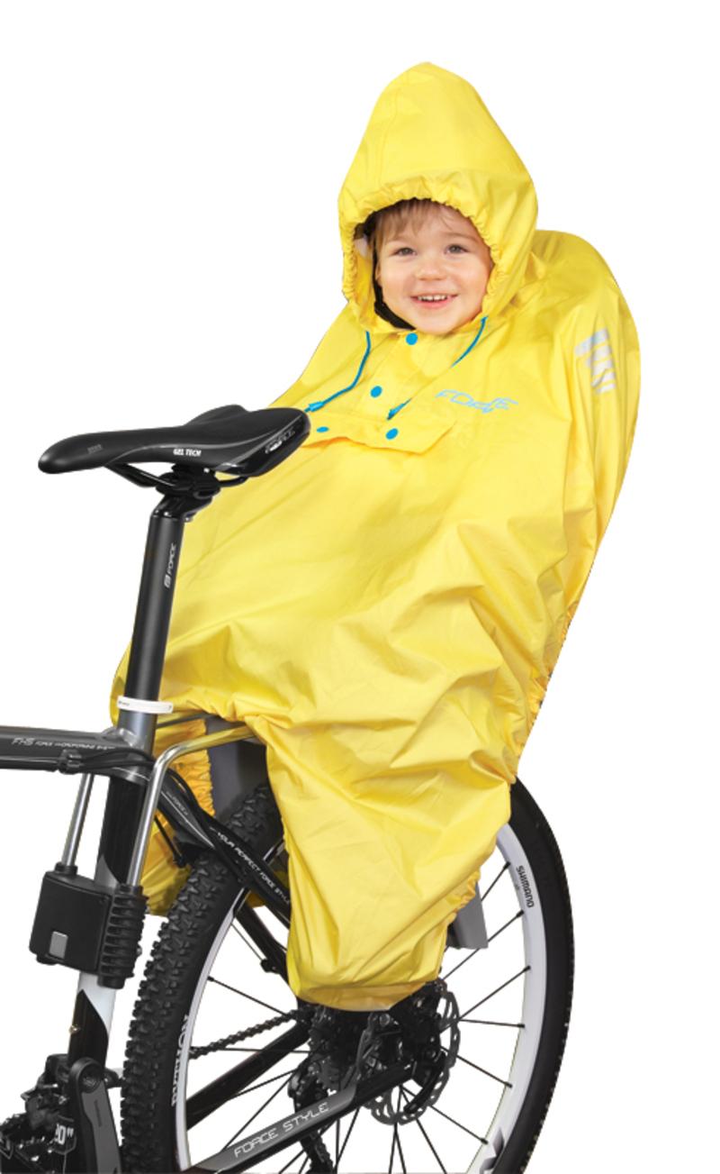 Force PONCHO žluté - pláštěnka na dítě v sedačce