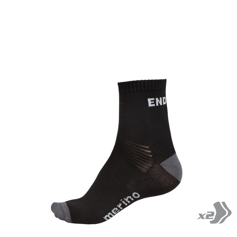 Endura ponožky BAABAA Merino Socks 2x