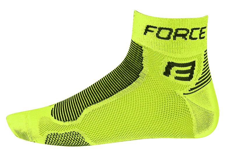 Force ponožky FORCE1 fluo-černé
