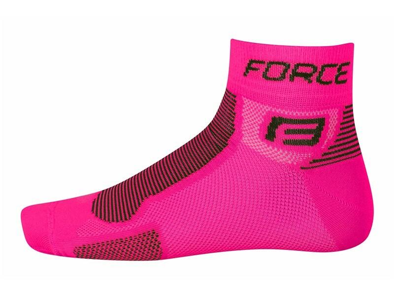 Force ponožky FORCE1 růžovo-černé