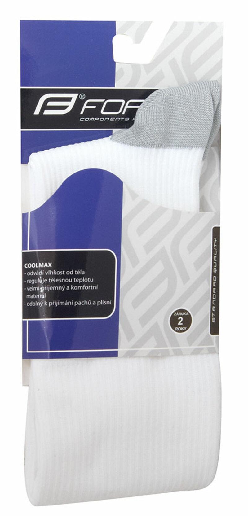 Force ponožky kompresní ATHLETIC bílé