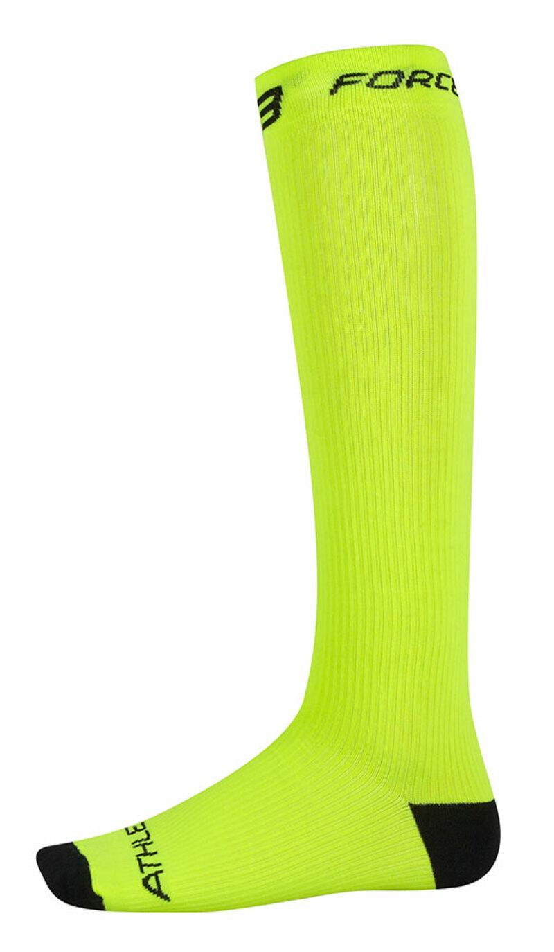 Force ponožky kompresní ATHLETIC fluo
