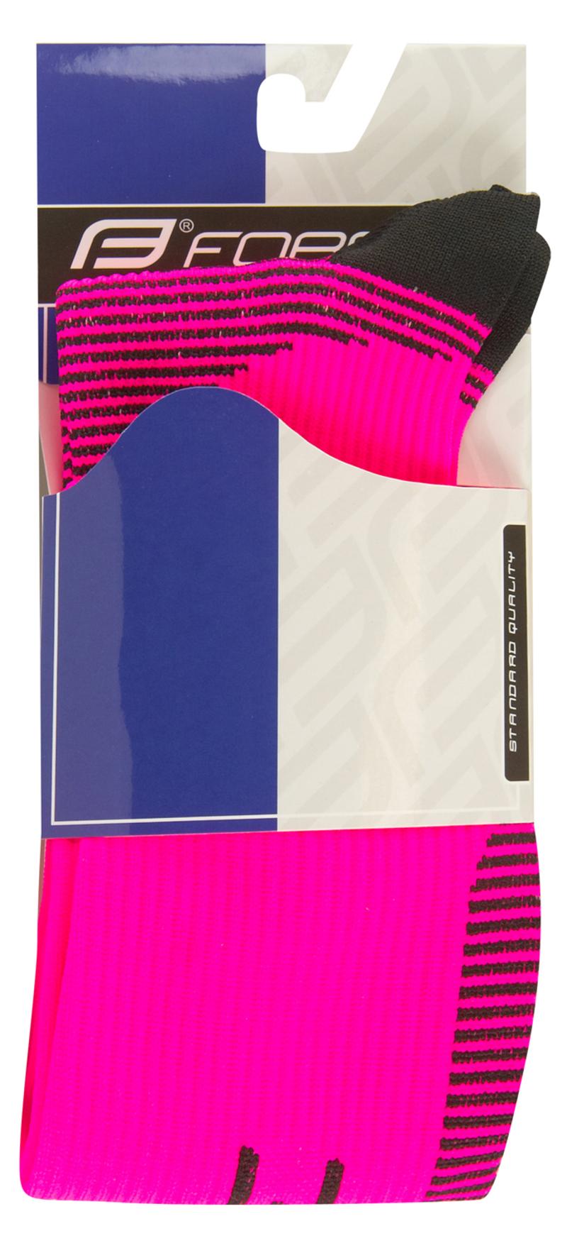 Force ponožky kompresní ATHLETIC PRO růžové