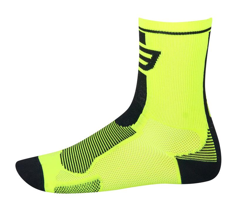 Force ponožky LONG,  fluo-černé