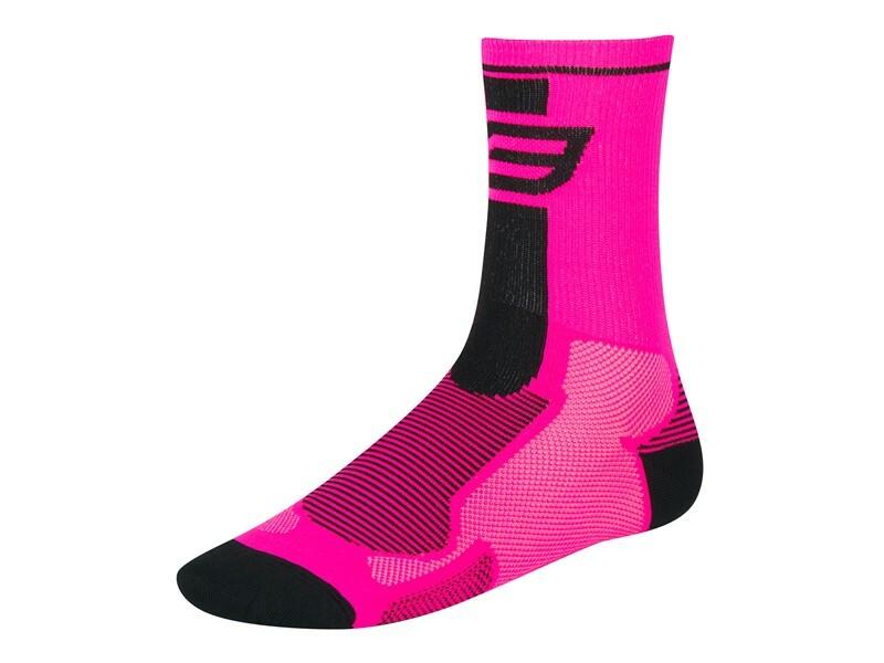 Force ponožky LONG,  růžovo-černé