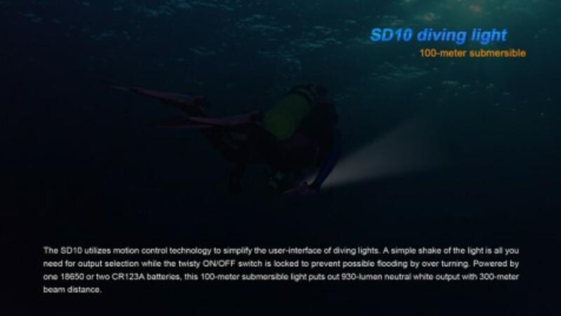 Fenix Potápěčská LED svítilna Fenix SD10