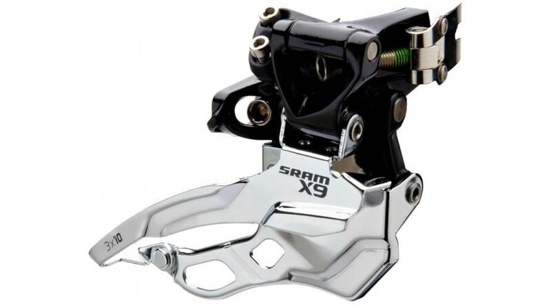 Sram přesmykač X9 3x10 horní objímka 31.8mm, spodní i horní tah lanka