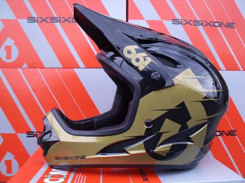 SixSixOne přilba Comp II black/gold
