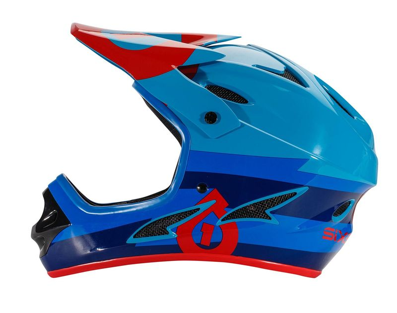 SixSixOne přilba Comp II bolt red/blue