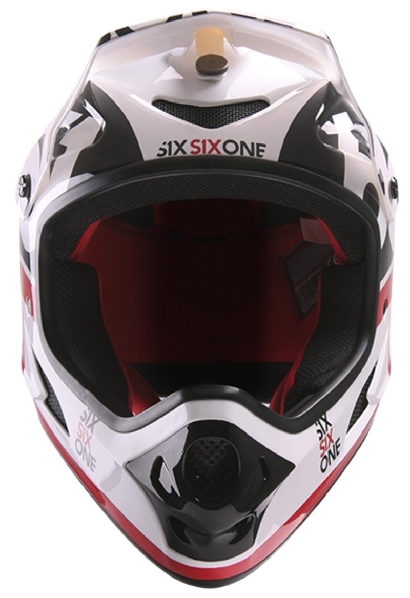 SixSixOne přilba Comp II red/black