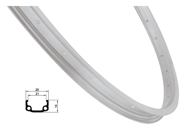 Remerx ráfek REMERX RMX21 540x21 36děr, stříbrný