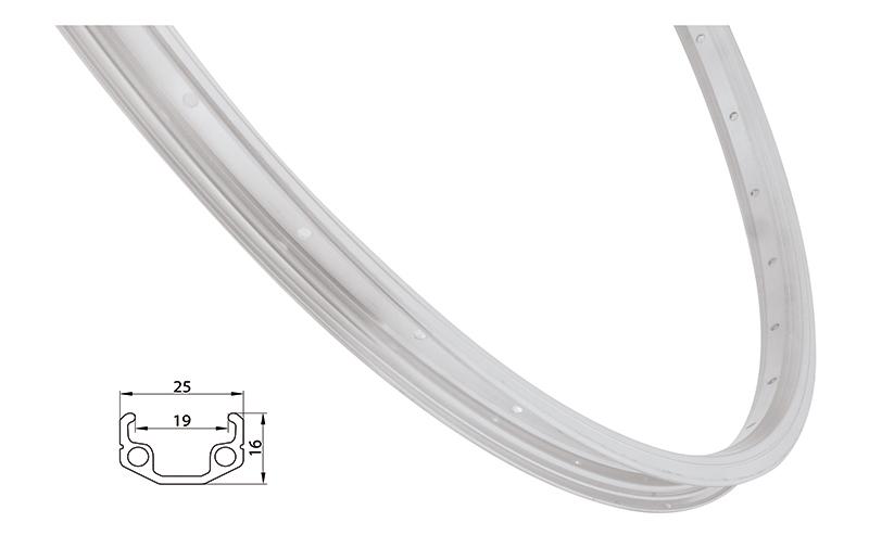 Remerx ráfek REMERX RMX219 406x19 36děr, stříbrný