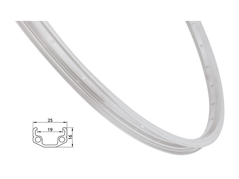 Remerx ráfek REMERX RMX219 622x19 36děr, stříbrný