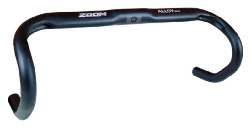 Bezvakolo řídítka silniční ZOOM AL-75BT 31.8/440mm, černá matná