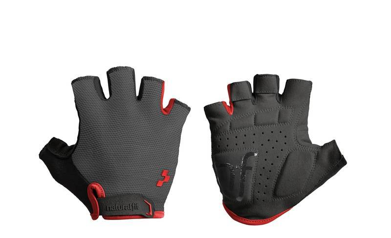 Cube rukavice CUBE Natural Fit Gloves, grey'n'red