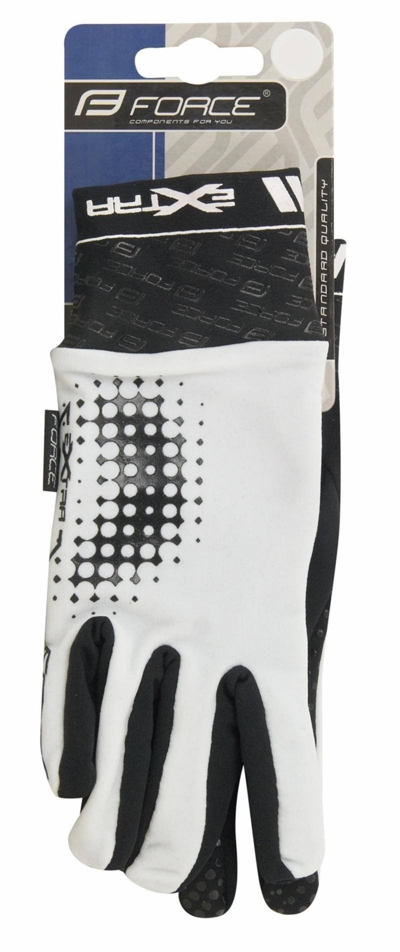 Force rukavice EXTRA, jaro-podzim, bílo-černé