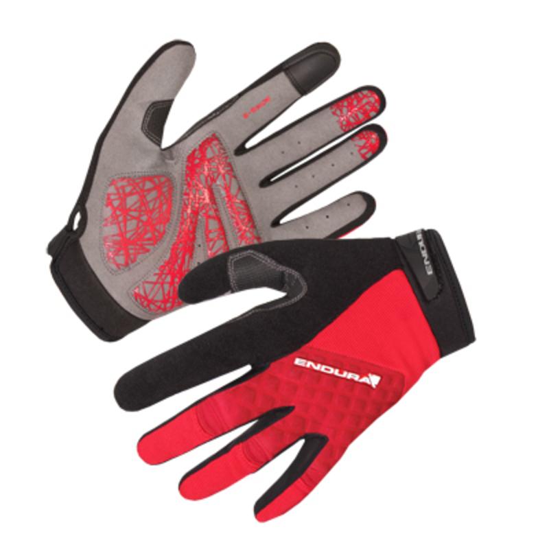 Endura rukavice HUMMVEE PLUS dlouhé red