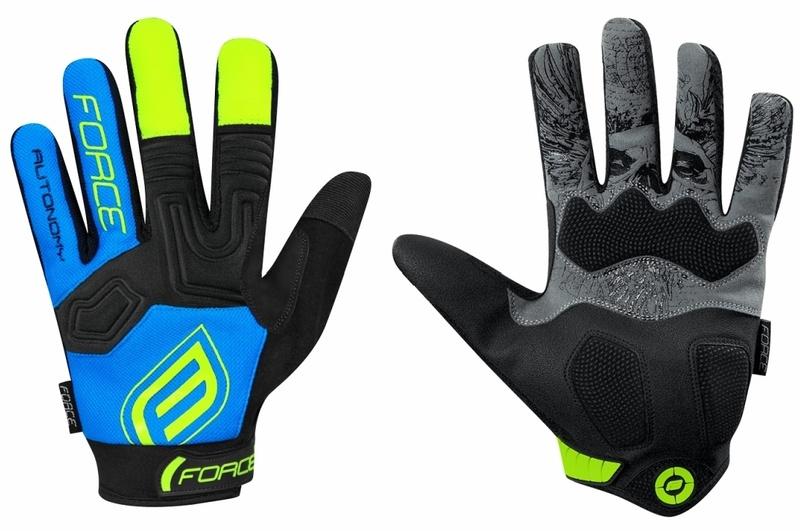 Force rukavice MTB AUTONOMY 17, černo-modré